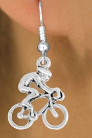 "<bR>               EXCLUSIVELY OURS!!<BR>         AN ALLAN ROBIN DESIGN!!<BR>CLICK HERE TO SEE 600+ EXCITING<BR>   CHANGES THAT YOU CAN MAKE!<BR>              LEAD & NICKEL FREE!!<BR>  W968SE - ""BICYCLIST"" EARRINGS<Br>               FROM $4.50 TO $8.35"