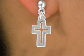 "<bR>               EXCLUSIVELY OURS!!<BR>         AN ALLAN ROBIN DESIGN!!<BR>CLICK HERE TO SEE 600+ EXCITING<BR>   CHANGES THAT YOU CAN MAKE!<BR>              LEAD & NICKEL FREE!!<BR>  W974SE - ""OPEN CROSS"" EARRINGS<Br>               FROM $4.50 TO $8.35"