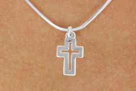 """<bR>               EXCLUSIVELY OURS!!<BR>         AN ALLAN ROBIN DESIGN!!<BR>CLICK HERE TO SEE 600+ EXCITING<BR>   CHANGES THAT YOU CAN MAKE!<BR>              LEAD & NICKEL FREE!!<BR>  W974SN - """"OPEN CROSS"""" NECKLACE<Br>               FROM $4.50 TO $8.35"""