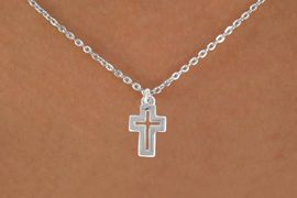 "<bR>               EXCLUSIVELY OURS!!<BR>         AN ALLAN ROBIN DESIGN!!<BR>CLICK HERE TO SEE 600+ EXCITING<BR>   CHANGES THAT YOU CAN MAKE!<BR>              LEAD & NICKEL FREE!!<BR>  W974SN - ""OPEN CROSS"" NECKLACE<Br>               FROM $4.50 TO $8.35"