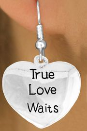"<bR>               EXCLUSIVELY OURS!!<BR>         AN ALLAN ROBIN DESIGN!!<BR>CLICK HERE TO SEE 600+ EXCITING<BR>   CHANGES THAT YOU CAN MAKE!<BR>              LEAD & NICKEL FREE!!<BR>     W978SE - ""TRUE LOVE WAITS""<Br>  EARRINGS FROM $4.50 TO $8.35"