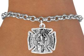 "<bR>                    EXCLUSIVELY OURS!!<BR>              AN ALLAN ROBIN DESIGN!!<BR>     CLICK HERE TO SEE 600+ EXCITING<BR>        CHANGES THAT YOU CAN MAKE!<BR>                   LEAD & NICKEL FREE!!<BR>  W979SB - ""PROTECT HIM PROTECT US"" <BR>      FIRE FIGHTER ST. FLORIAN SHIELD &<Br>BRACELET FROM $4.15 TO $8.00  �2011"