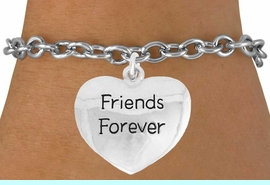 """<bR>               EXCLUSIVELY OURS!!<BR>         AN ALLAN ROBIN DESIGN!!<BR>CLICK HERE TO SEE 600+ EXCITING<BR>   CHANGES THAT YOU CAN MAKE!<BR>              LEAD & NICKEL FREE!!<BR>  W982SB - """"FRIENDS FOREVER"""" &<Br>   BRACELET FROM $4.50 TO $8.35"""
