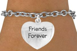 "<bR>               EXCLUSIVELY OURS!!<BR>         AN ALLAN ROBIN DESIGN!!<BR>CLICK HERE TO SEE 600+ EXCITING<BR>   CHANGES THAT YOU CAN MAKE!<BR>              LEAD & NICKEL FREE!!<BR>  W982SB - ""FRIENDS FOREVER"" &<Br>   BRACELET FROM $4.50 TO $8.35"