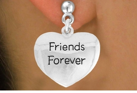 """<bR>               EXCLUSIVELY OURS!!<BR>         AN ALLAN ROBIN DESIGN!!<BR>CLICK HERE TO SEE 600+ EXCITING<BR>   CHANGES THAT YOU CAN MAKE!<BR>              LEAD & NICKEL FREE!!<BR>     W982SE - """"FRIENDS FOREVER""""<Br>  EARRINGS FROM $4.50 TO $8.35"""