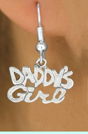 """<bR>               EXCLUSIVELY OURS!!<BR>         AN ALLAN ROBIN DESIGN!!<BR>CLICK HERE TO SEE 600+ EXCITING<BR>   CHANGES THAT YOU CAN MAKE!<BR>              LEAD & NICKEL FREE!!<BR>        W988SE - """"DADDY'S GIRL""""<Br>  EARRINGS FROM $4.50 TO $8.35"""