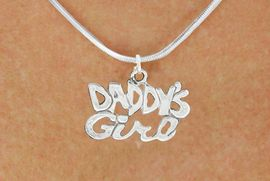 "<bR>               EXCLUSIVELY OURS!!<BR>         AN ALLAN ROBIN DESIGN!!<BR>CLICK HERE TO SEE 600+ EXCITING<BR>   CHANGES THAT YOU CAN MAKE!<BR>              LEAD & NICKEL FREE!!<BR>       W988SN - ""DADDY'S GIRL""<Br>  NECKLACE FROM $4.50 TO $8.35"