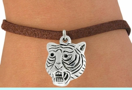 """<bR>               EXCLUSIVELY OURS!!<BR>         AN ALLAN ROBIN DESIGN!!<BR>CLICK HERE TO SEE 600+ EXCITING<BR>   CHANGES THAT YOU CAN MAKE!<BR>              LEAD & NICKEL FREE!!<BR>           W989SB - """"TIGER HEAD"""" &<Br>   BRACELET FROM $4.15 TO $8.00"""