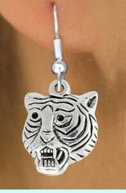 """<bR>               EXCLUSIVELY OURS!!<BR>         AN ALLAN ROBIN DESIGN!!<BR>CLICK HERE TO SEE 600+ EXCITING<BR>   CHANGES THAT YOU CAN MAKE!<BR>              LEAD & NICKEL FREE!!<BR>         W989SE - """"TIGER HEAD""""<Br>  EARRINGS FROM $4.50 TO $8.35"""