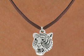 "<bR>               EXCLUSIVELY OURS!!<BR>         AN ALLAN ROBIN DESIGN!!<BR>CLICK HERE TO SEE 600+ EXCITING<BR>   CHANGES THAT YOU CAN MAKE!<BR>              LEAD & NICKEL FREE!!<BR>         W989SN - ""TIGER HEAD""<Br>  NECKLACE FROM $4.50 TO $8.35"