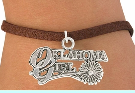 """<bR>               EXCLUSIVELY OURS!!<BR>         AN ALLAN ROBIN DESIGN!!<BR>CLICK HERE TO SEE 600+ EXCITING<BR>   CHANGES THAT YOU CAN MAKE!<BR>              LEAD & NICKEL FREE!!<BR>     W990SB - """"OKLAHOMA GIRL"""" &<Br>   BRACELET FROM $4.15 TO $8.00"""