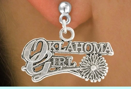 """<bR>               EXCLUSIVELY OURS!!<BR>         AN ALLAN ROBIN DESIGN!!<BR>CLICK HERE TO SEE 600+ EXCITING<BR>   CHANGES THAT YOU CAN MAKE!<BR>              LEAD & NICKEL FREE!!<BR>     W990SE - """"OKLAHOMA GIRL""""<Br>  EARRINGS FROM $4.50 TO $8.35"""