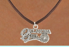 """<bR>               EXCLUSIVELY OURS!!<BR>         AN ALLAN ROBIN DESIGN!!<BR>CLICK HERE TO SEE 600+ EXCITING<BR>   CHANGES THAT YOU CAN MAKE!<BR>              LEAD & NICKEL FREE!!<BR>     W990SN - """"OKLAHOMA GIRL""""<Br>  NECKLACE FROM $4.50 TO $8.35"""