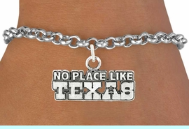 """<bR>               EXCLUSIVELY OURS!!<BR>         AN ALLAN ROBIN DESIGN!!<BR>CLICK HERE TO SEE 600+ EXCITING<BR>   CHANGES THAT YOU CAN MAKE!<BR>              LEAD & NICKEL FREE!!<BR>W995SB - """"NO PLACE LIKE TEXAS"""" <Br>   & BRACELET FROM $4.15 TO $8.00"""