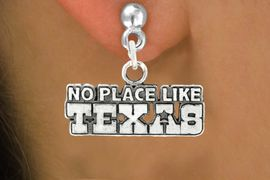 "<bR>               EXCLUSIVELY OURS!!<BR>         AN ALLAN ROBIN DESIGN!!<BR>CLICK HERE TO SEE 600+ EXCITING<BR>   CHANGES THAT YOU CAN MAKE!<BR>              LEAD & NICKEL FREE!!<BR> W995SE - ""NO PLACE LIKE TEXAS""<Br>  EARRINGS FROM $4.50 TO $8.35"
