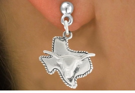 "<bR>               EXCLUSIVELY OURS!!<BR>         AN ALLAN ROBIN DESIGN!!<BR>CLICK HERE TO SEE 600+ EXCITING<BR>   CHANGES THAT YOU CAN MAKE!<BR>              LEAD & NICKEL FREE!!<BR>     W997SE - ""TEXAS LONGHORN""<Br>  EARRINGS FROM $4.50 TO $8.35"