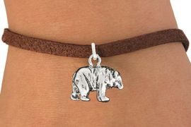 "<bR>               EXCLUSIVELY OURS!!<BR>         AN ALLAN ROBIN DESIGN!!<BR>CLICK HERE TO SEE 600+ EXCITING<BR>   CHANGES THAT YOU CAN MAKE!<BR>              LEAD & NICKEL FREE!!<BR>                 W999SB - ""BEAR"" <Br>   & BRACELET FROM $4.15 TO $8.00"