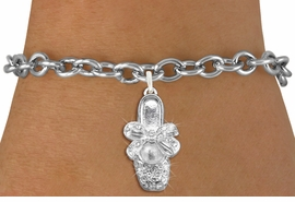 <bR>               EXCLUSIVELY OURS!!<Br>         AN ALLAN ROBIN DESIGN!! <BR>   LEAD, NICKEL & CADMIUM FREE!! <BR>     W1270SB - BALLERINA SHOE <BR>     CRYSTAL CHARM & BRACELET <br>       AS LOW AS $5.15
