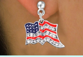 <bR>                 EXCLUSIVELY OURS!!<Br>           AN ALLAN ROBIN DESIGN!!<BR>     LEAD, NICKEL & CADMIUM FREE!!<BR> W1317SE - PATRIOTIC USA FLAG <BR>      CRYSTAL CHARM EARRINGS <BR>       FROM $4.95 TO $10.00 �2012