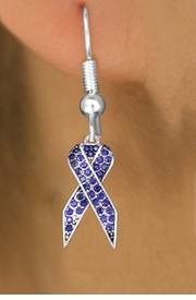 <bR>                 EXCLUSIVELY OURS!! <Br>            AN ALLAN ROBIN DESIGN!!<BR>      LEAD, NICKEL & CADMIUM FREE!! <BR> W1382SE - PURPLE AWARENESS <BR> CRYSTAL RIBBON CHARM EARRINGS <BR>        FROM $4.95 TO $10.00 �2012