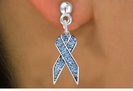 <bR>                 EXCLUSIVELY OURS!! <Br>            AN ALLAN ROBIN DESIGN!!<BR>      LEAD, NICKEL & CADMIUM FREE!! <BR> W1383SE - TURQUOISE AWARENESS <BR> CRYSTAL RIBBON CHARM EARRINGS <BR>        FROM $4.95 TO $10.00 �2012
