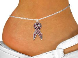 <bR>                    EXCLUSIVELY OURS!! <BR>                AN ALLAN ROBIN DESIGN!! <BR>       LEAD, NICKEL & CADMIUM FREE!! <BR>  W1384SAK - RED AWARENESS <BR>  CRYSTAL RIBBON CHARM AND ANKLET <Br>           FROM $5.40 TO $9.85 �2013