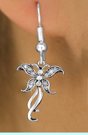 <bR>                  EXCLUSIVELY OURS!! <Br>              AN ALLAN ROBIN DESIGN!!<BR>        LEAD, NICKEL & CADMIUM FREE!! <BR>   W1392SE - SILVER TONE AND CRYSTAL <BR>      BUTTERFLY CHARM EARRINGS <BR>          FROM $4.95 TO $10.00 �2013