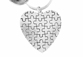 <BR>               EXCLUSIVELY OURS!!<BR>           AN ALLAN ROBIN DESIGN<Br>              LEAD & NICKEL FREE!! <BR>  HIGH POLISHED - MIRROR FINISH<bR>      W15922KC - PUFFED AUTISM<Br>  AWARENESS PUZZLE PIECE HEART<Br>            KEY CHAIN &#169;2010 FROM<bR>                    $4.50 TO $10.00