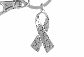 <Br>              EXCLUSIVELY OURS!!<BR>          AN ALLAN ROBIN DESIGN<Br>             LEAD & NICKEL FREE!!<BR>HIGH POLISHED - MIRROR FINISH<bR>W15925KC - AUTISM AWARENESS<Br>PUZZLE PIECE RIBBON KEY CHAIN<Br>    &#169;2010 FROM $4.50 TO $10.00