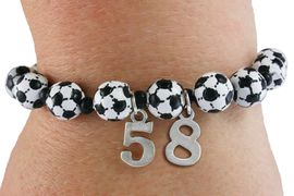 <Br>              EXCLUSIVELY OURS!!<Br>        AN ALLAN ROBIN DESIGN!!<Br>             LEAD & NICKEL FREE!! <BR>        THIS IS A PERSONALIZED ITEM <Br>W19467B - DETAILED SOCCER <BR>       THEMED STRETCH BRACELET <BR> WITH PERSONALIZED TEAM NUMBER <BR>     FROM $3.94 TO $8.75  �2012