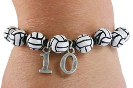 <Br>              EXCLUSIVELY OURS!!<Br>        AN ALLAN ROBIN DESIGN!!<Br>             LEAD & NICKEL FREE!! <BR>        THIS IS A PERSONALIZED ITEM <Br>W19469B - DETAILED VOLLEYBALL <BR>       THEMED STRETCH BRACELET <BR> WITH PERSONALIZED TEAM NUMBER <BR>     FROM $3.94 TO $8.75  �2012