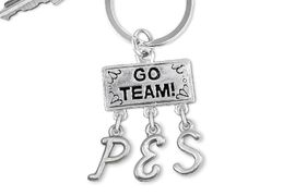"<Br>                  EXCLUSIVELY OURS!!<Br>            AN ALLAN ROBIN DESIGN!!<Br>                 LEAD & NICKEL FREE!! <BR>       THIS IS A PERSONALIZED ITEM <Br> W20097KC - SILVER TONE ""GO TEAM!"" <BR> CHARM ON CUSTOM KEY RING WITH <BR> YOUR ELEMENTARY SCHOOL INITIALS <BR>        FROM $6.41 TO $14.25 �2013"