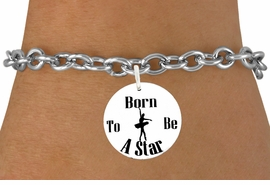 "<bR>               EXCLUSIVELY OURS!!<BR>         AN ALLAN ROBIN DESIGN!!<BR>             LEAD & NICKEL FREE!!<BR> W1128SB - ""BORN TO BE A STAR"" <BR>       BALLET CHARM BRACELET <br>       AS LOW AS $4.15"