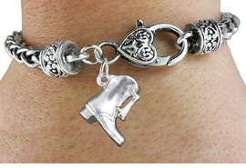 <bR>               EXCLUSIVELY OURS!!<BR>         AN ALLAN ROBIN DESIGN!!<BR>             LEAD & NICKEL FREE!!<BR>W1139B2 - DRILL TEAM BOOT <Br>CHARM & HEART CLASP BRACELET <BR>     FROM $4.64 TO $9.68 EACH �2011