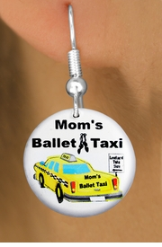 "<bR>        EXCLUSIVELY OURS!! <BR>     AN ALLAN ROBIN DESIGN!! <BR>       LEAD & NICKEL FREE!! <BR> W1205SE - ""MOM'S BALLET TAXI"" <BR>  HUMOROUS CHARM EARRINGS <br>       AS LOW AS $3.25"