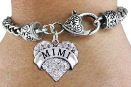 "<bR>                   EXCLUSIVELY OURS!!<BR>             AN ALLAN ROBIN DESIGN!!<BR>                 LEAD & NICKEL FREE!!<BR>W1344SB - AUSTRIAN CRYSTAL ""MIMI"" <BR>HEART CHARM & HEART CLASP BRACELET <BR>         FROM $5.63 TO $12.50 �2012"