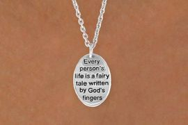 "<BR>            ""EXCLUSIVELY OURS""<bR>        AN ALLAN ROBIN DESIGN<Br>             LEAD & NICKEL FREE!!<Br>W13708N - ""LIFE IS A FAIRY TALE""<Br>NECKLACE FROM $4.10 TO $10.00"
