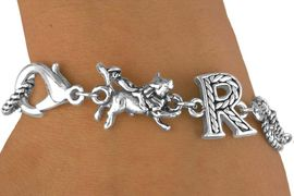 "<Br>              EXCLUSIVELY OURS!<bR>         AN ALLAN ROBIN DESIGN<bR>             LEAD & NICKEL FREE!!<Br>W13806B - ""RODEO"" ROPE LETTER<Br>       BRACELET AS LOW AS $6.83"