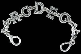 """<Br>              EXCLUSIVELY OURS!<bR>         AN ALLAN ROBIN DESIGN<bR>             LEAD & NICKEL FREE!!<Br>W13806B - """"RODEO"""" ROPE LETTER<Br>       BRACELET AS LOW AS $6.83"""