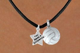"<BR>                      ""EXCLUSIVELY OURS""<bR>                  AN ALLAN ROBIN DESIGN<Br>                      LEAD & NICKEL FREE!!<Br>W13908N - ""YOU MADE A DIFFERENCE"" &<br>VOLLEYBALL NECKLACE AS LOW AS $4.50"