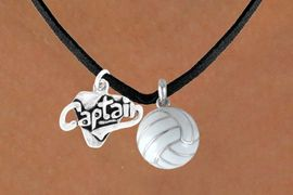 """<BR>   """"EXCLUSIVELY OURS""""<bR>AN ALLAN ROBIN DESIGN<Br>   LEAD & NICKEL FREE!!<Br>W13910N - """"CAPTAIN"""" &<br> VOLLEYBALL NECKLACE<br>         AS LOW AS $4.50"""