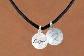 """<BR>      """"EXCLUSIVELY OURS""""<bR>  AN ALLAN ROBIN DESIGN<Br>     LEAD & NICKEL FREE!!<Br>W13924N - """"SUPER"""" DISC<br>& VOLLEYBALL NECKLACE<br>          AS LOW AS $4.50"""