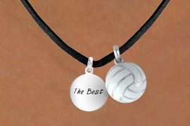 """<BR>      """"EXCLUSIVELY OURS""""<bR>  AN ALLAN ROBIN DESIGN<Br>       LEAD & NICKEL FREE!!<Br>W13927N - """"THE BEST"""" DISC<br>   & VOLLEYBALL NECKLACE<br>             AS LOW AS $4.50"""