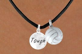 """<BR>        """"EXCLUSIVELY OURS""""<bR>    AN ALLAN ROBIN DESIGN<Br>       LEAD & NICKEL FREE!!<Br>W13928N - """"TOUGH"""" DISC &<br>     VOLLEYBALL NECKLACE<br>             AS LOW AS $4.50"""