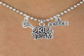 """<BR>          """"EXCLUSIVELY OURS""""<bR>      AN ALLAN ROBIN DESIGN<Br>          LEAD & NICKEL FREE!!<Br>W14330N - DRILL TEAM COACH<Br> & WHISTLE CHARM NECKLACE<br>               AS LOW AS $4.16"""