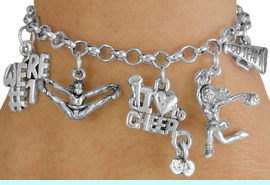 <Br>                EXCLUSIVELY OURS!!<Br>          AN ALLAN ROBIN DESIGN!!<Br>               LEAD & NICKEL FREE!!<Br>      W14356B - CHEER THEME FIVE<BR>CHARM BRACELET $10.38 EACH  �2012
