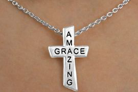 """<Br>            EXCLUSIVELY OURS!!!<Br>       AN ALLAN ROBIN DESIGN!!<Br>            LEAD & NICKEL FREE!!<BR>  W14362NE - """"AMAZING GRACE""""<br>CROSS NECKLACE & EARRING SET<Br>          FROM $6.75 TO $15.00<BR>                 �2009 CineCorp"""