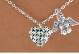 <bR>                EXCLUSIVELY OURS!!<Br>          AN ALLAN ROBIN DESIGN!!<BR>               LEAD & NICKEL FREE!!<BR>        W16005N - PRAYING ANGEL<Br>      & AUTISM AWARENESS HEART<Br>            NECKLACE &#169;2010 FROM<bR>                      $4.85 TO $8.50