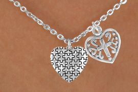 <bR>             EXCLUSIVELY OURS!!<Br>       AN ALLAN ROBIN DESIGN!!<BR>            LEAD & NICKEL FREE!!<BR>W16007N - HEART WITH CROSS &<Br>      AUTISM AWARENESS HEART<Br>          NECKLACE &#169;2010 FROM<bR>                    $4.85 TO $8.50