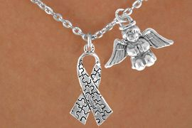 <bR>                EXCLUSIVELY OURS!!<Br>          AN ALLAN ROBIN DESIGN!!<BR>               LEAD & NICKEL FREE!!<BR>        W16008N - PRAYING ANGEL<Br>    & AUTISM AWARENESS RIBBON<Br>            NECKLACE &#169;2010 FROM<bR>                     $4.85 TO $8.50